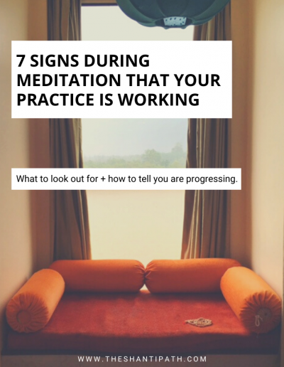 7 Signs During Meditation That Your Practice Is Working