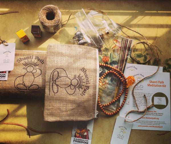 Shanti Path Meditation Kit Items