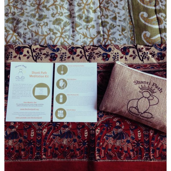 Shanti Path Meditation Kit Postcard + Pouch