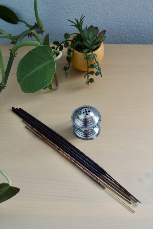 incense sticks and incense holder shanti path meditation kit